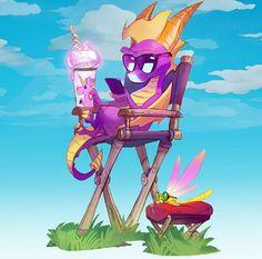 Spyro And Cynder, Video Game Art, Video Games, Spyro The Dragon, Lord, Rocket Raccoon, Cute Eyes, Cute Disney Wallpaper, Crash Bandicoot