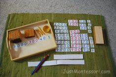 Lots of math activities using Montessori philosophy.