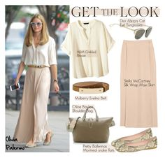 """Get the Look: Olivia Palermo"" by helenevlacho ❤ liked on Polyvore featuring Chloé, Christian Dior, STELLA McCARTNEY, H&M and Pretty Ballerinas"