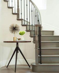 Treppengelaender Streichen Ideen Grau Weisse Wand