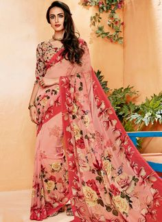 Wide range of saree available online. Buy this marvelous print work printed saree for casual.