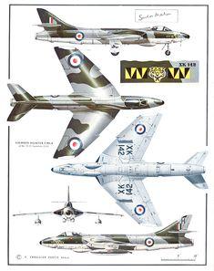 """Hawker Hunter F6 74 (F) """"Tiger"""" Squadron RAF"""