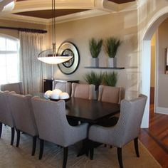 Contemporary dining room - by Christy Johnson.