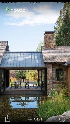 17 Beautiful ideas for rustic exterior design # exterior design # for Design Exterior, Rustic Exterior, Modern Farmhouse Exterior, Exterior Siding, Exterior Colors, Ranch Exterior, Garage Design, Farmhouse Interior, Exterior Paint