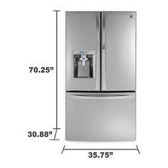 3100  Kenmore Elite 74053 23.5 Cu. Ft. Counter-Depth Bottom-Freezer Refrigerator 1