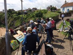 The group painting in Crail, Scotland.