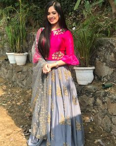 Indian outfits ideas for women are becoming a trend current 23 Lehenga Designs, Choli Designs, Red Lehenga, Lehenga Choli, Anarkali, Indian Attire, Indian Outfits, Indian Wear, Indian Designer Outfits