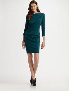 Piazza Sempione Draped Wool Jersey Dress, Saks.com, $750