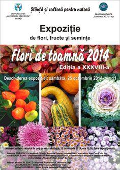 """S-a deschis expozitia """"Flori de Toamna"""" 2014, la Gradina Botanica."""