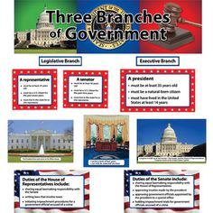 Three Branches Of Government Mini Bulletin Board Set