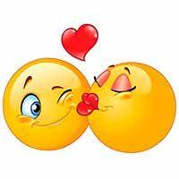 Kissing emoticons vector image on VectorStock Love Heart Emoji, Love Smiley, Smiley Happy, Emoji Love, Emoji Images, Emoji Pictures, Cute Cartoon Pictures, Animated Smiley Faces, Funny Emoji Faces