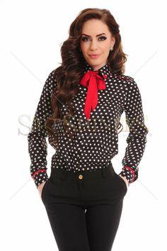 PrettyGirl Pure Dots Black Shirt