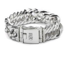 Sterling silver chain bracelet | 101  Vishnu | www.silkjewellery.nl