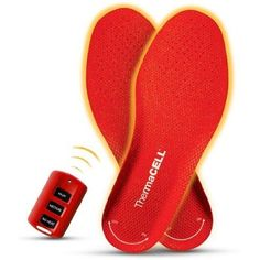 Remote controlled rechargeable heated foot warmer insoles, For Hokie games!!