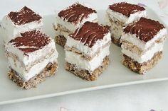 Diós tejszínszelet, csábító finomság sütés nélkül! Hűsítő desszert egyszerűen!