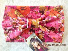 Retro Floral Turban Headwrap Floral WRAPsody by ThePurpleChameleon, $16.00  #retro #70s  #springfloral  #bridesmaid #pink #turban