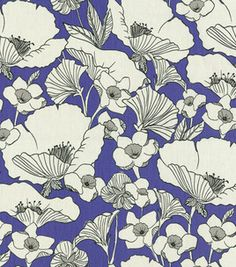 @HGTV Poppy Power Periwinkle fabric @J O-Ann Fabric and Craft Stores
