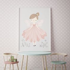 A magical print for your little girls room. Little Girl Rooms, Little Girls, Pop Design, Kids Prints, Girls Bedroom, Pretty In Pink, Fairy, Nursery, Wall Art