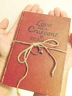 for the ringbearer: we could do this with a book of our collective love poetry