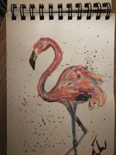 Flamenco (aquarell paints)