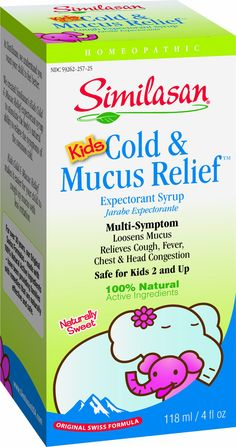 Similasan Kids Cold and Mucus Relief Syrup, 4 Ounce