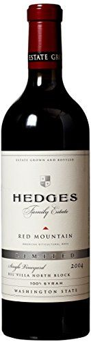 2004 Hedges Family Estate Single Vineyard Limited SYRAH 750 mL *** To view further for this item, visit the image link.