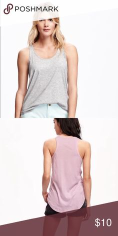 Old Navy Relaxed Racer Back tank top Super cute relaxed tank top. Size small. Light grey. Runs small. Never worn NWOT Old Navy Tops Tank Tops