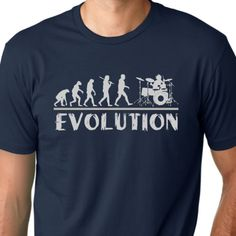 For Dad lol Drummer Evolution Tshirt music humor Drums tee by MyPersonaliTs, $13.99
