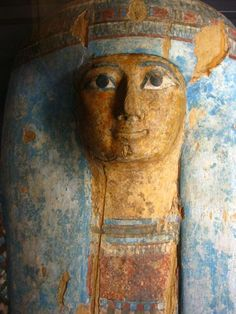 Ancient Egyptian mummy lid ~Louvre