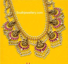 Lakshmi Pearls Haram photo #GoldJewelleryHaram