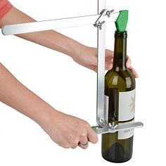AGPtek Glass Bottle Cutter Kit Stained Glass Cutting Tool -- Recycles Wine Bottle Jar (Up To 6 Gallons, TURN old bottles INTO glass sculptures, vases, lamp shades, glass votive or fashion anything)