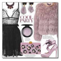 """""""PARTY STYLE//MINI DRESS"""" by shoaleh-nia ❤ liked on Polyvore featuring Alexander McQueen, Ralph Lauren Collection, Liam Fahy, MAC Cosmetics, Edie Parker and Marni"""