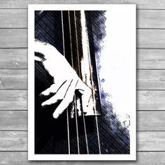Jazz Bass Poster, Jazz Art, Jazz Illustration, Jazz Art Print, Fine Art Print, Jazz Prints, Music Poster, Music Prints, Interior Print, Jazz Music Print, Illustration, Music Poster Design, Poster Art, Jazz Art, Art, Fine Art Prints, Bird Prints, Music Poster