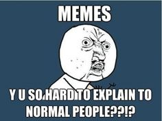 Seriously, memes, y u so hard to explain to normal people,
