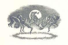 """British Library digitised image from page 97 of """"Sing-Song. A nursery rhyme book. illustrations by A. Hughes, etc"""" Illustrations Harry Potter, Theme Harry Potter, Dancing In The Moonlight, Spooky Places, 31 Days Of Halloween, Le Web, Songs To Sing, What Goes On, British Library"""