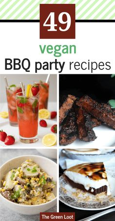 Vegan Summer Recipes for BBQ and Grilling that are perfect for your veggie barbecue parties. These tasty cocktails, delicious main dishes and sweet treats will make your Summer tasty and unforgettable! Vegan Recipes Beginner, Best Vegan Recipes, Vegan Dinner Recipes, High Protein Recipes, Recipes For Beginners, Vegan Dinners, Vegan Picnic, Main Dishes, Side Dishes