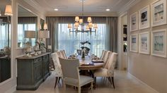 Gorgeous Dining Room in the Dubonnet Grande at Riverstone in Naples