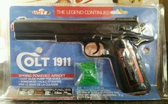 NEW TOY Colt 1911 Airsoft Pistol Toy Gun Spring Powered + 70 BBs in Sporting Goods, Outdoor Sports, Airsoft | eBay