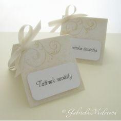svatební jmenovky handmade - Hledat Googlem