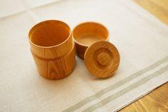 ろくろ挽きの欅の木の茶筒(小)の画像4枚目