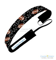 Football - 1 inch Non-Slip Headband - Charlies Project Headbands for a Cause