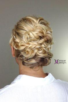Bridal hair, Wedding hair, Hairstyles, Atlanta hairstylist, updo, romantic hairstyle, hairstyle ideas, braided updo,