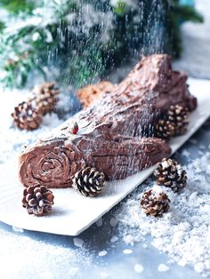 I know the recipe looks finicky, and I can't promise it's a doddle, but it works easily and you will soon find you are rolling chocolate logs without a care. In fact, if you have a lot of people coming round, and you can find a serving dish or board long enough, it might be worth making 2 cakes and sitting them end to end, to look like a really long log. But even if you're making just one log, I advise at least a freestanding mixer or a hand-held electric whisk: I wouldn't contemplate this…