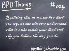 BPD Things #104 (Borderline Personality Disorder)