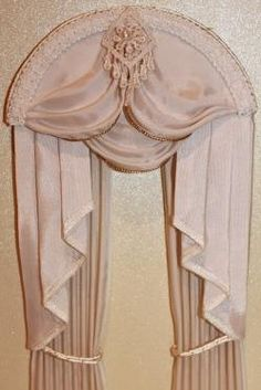 1:12 scale Dollhouse Curtains Swag & Tail by MiniatureCurtains