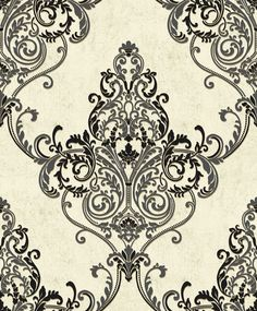 Valdina Black / White wallpaper by Arthouse