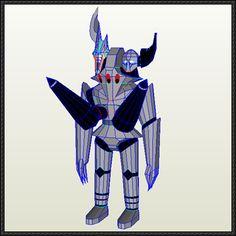 The Big O - Bonaparte Free Robot Paper Model Download - http://www.papercraftsquare.com/big-o-bonaparte-free-robot-paper-model-download.html