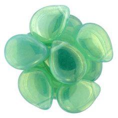 Eureka Crystal Beads - 16x12mm Pear Shaped Drop MILKY PERIDOT IRIS LUSTER Czech Glass Beads (25 pcs), $9.75 (http://www.eurekacrystalbeads.com/16x12mm-pear-shaped-drop-milky-peridot-iris-luster-czech-glass-beads-25-pcs/)