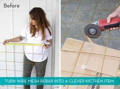 How To: Turn Wire Mesh Rebar into a Clever Kitchen Item » Curbly   DIY Design Community