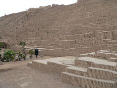 Huaca Pucllana of Lima culture  (Miraflores, Lima).
